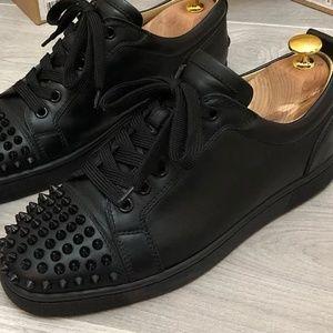 Christian Louboutin Shoes - Christian Louboutin black calf junior spikes sneak